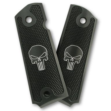 Machine Engraved Punisher Grips